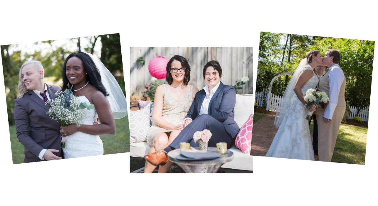 Queer weddings with a custom tailored suit